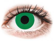 CRAZY LENS - Emerald Green - jednodniowe zerówki (2 soczewki)