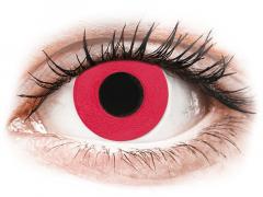 CRAZY LENS - Solid Red - jednodniowe korekcyjne (2 soczewki)