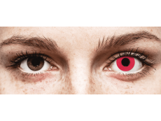 CRAZY LENS - Solid Red - jednodniowe zerówki (2 soczewki)