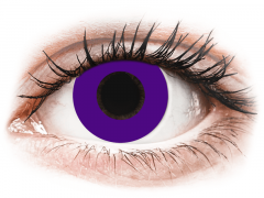 CRAZY LENS - Solid Violet - jednodniowe korekcyjne (2 soczewki)
