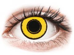 CRAZY LENS - Yellow Twilight - jednodniowe korekcyjne (2 soczewki)