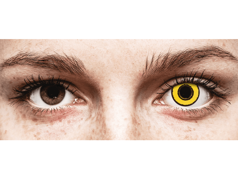 CRAZY LENS - Yellow Twilight - jednodniowe zerówki (2 soczewki)