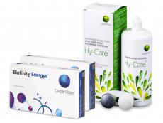 Biofinity Energys (2x 6 soczewek) + Płyn Hy-Care 360 ml GRATIS