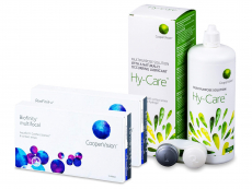 Biofinity Multifocal (2x 6 soczewek) + Płyn Hy-Care 360 ml GRATIS