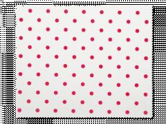 Ściereczka do czyszczenia okularów - biała w czerwone kropki