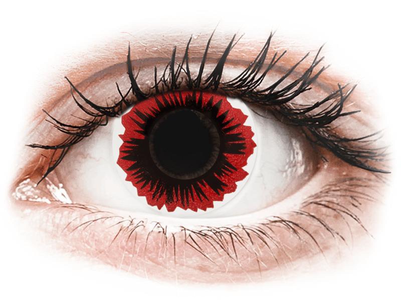 ColourVUE Crazy Lens - Blaze - zerówki (2 soczewki)