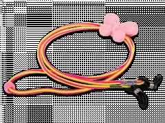 Sznurek do okularów w kolorze różowym i żółtym - motylek