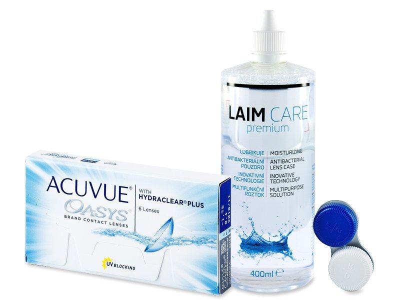 Acuvue Oasys (6soczewek) + płynLaim-Care 400ml