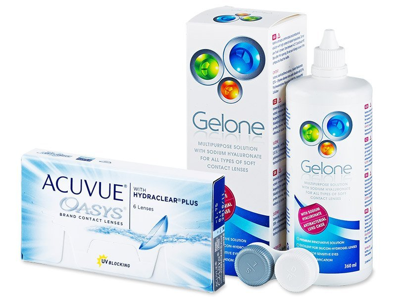 Acuvue Oasys (6soczewek) + płynGelone360ml